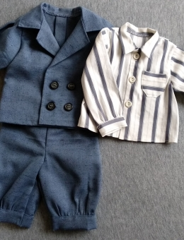 Jacket, shirt and trousers for the reborn baby